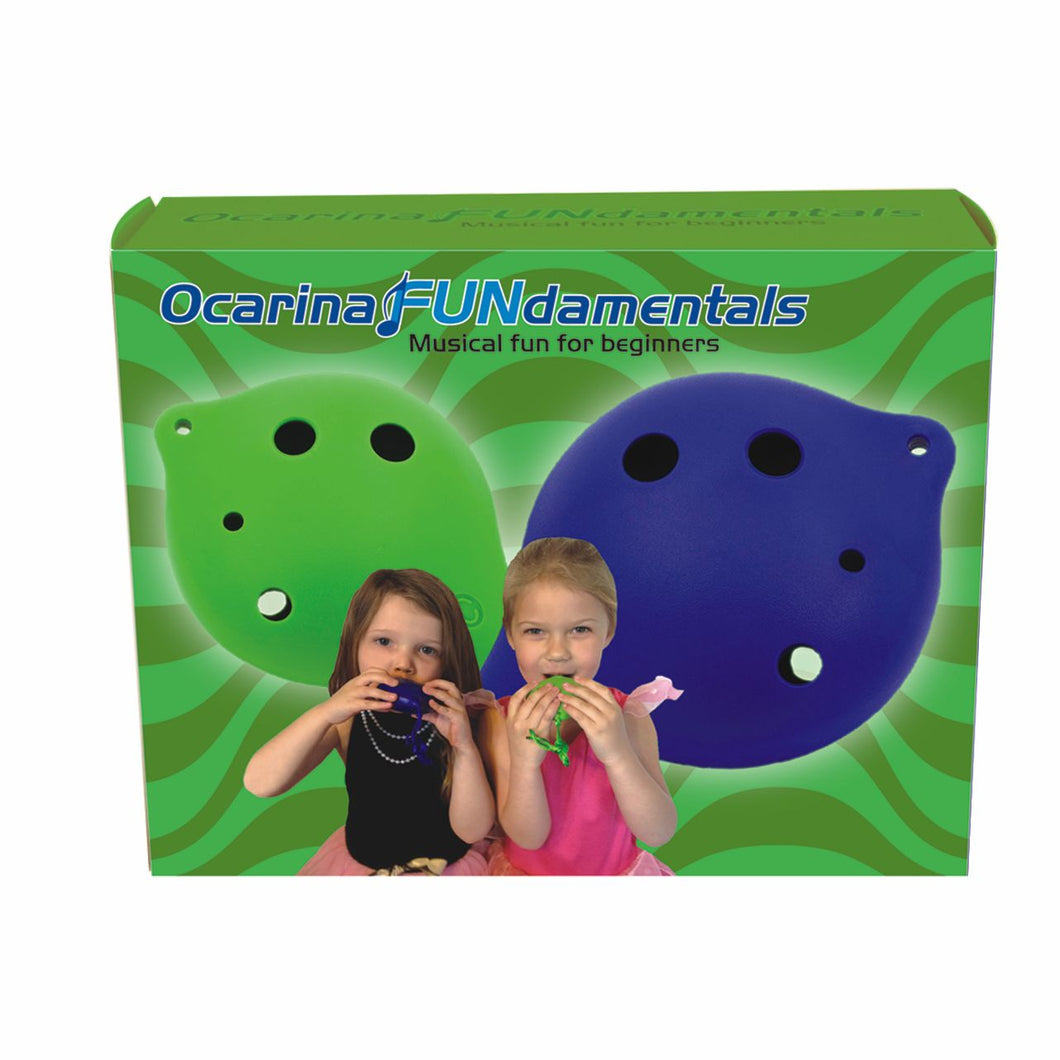 Ocarina FUNdamentals for 6 Hole Ocarina + Three Additional 6-hole Plastic Ocarinas