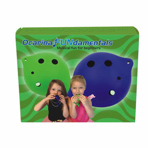 Ocarina FUNdamentals for 6 Hole Ocarina + Two Additional 6-hole Plastic Ocarinas