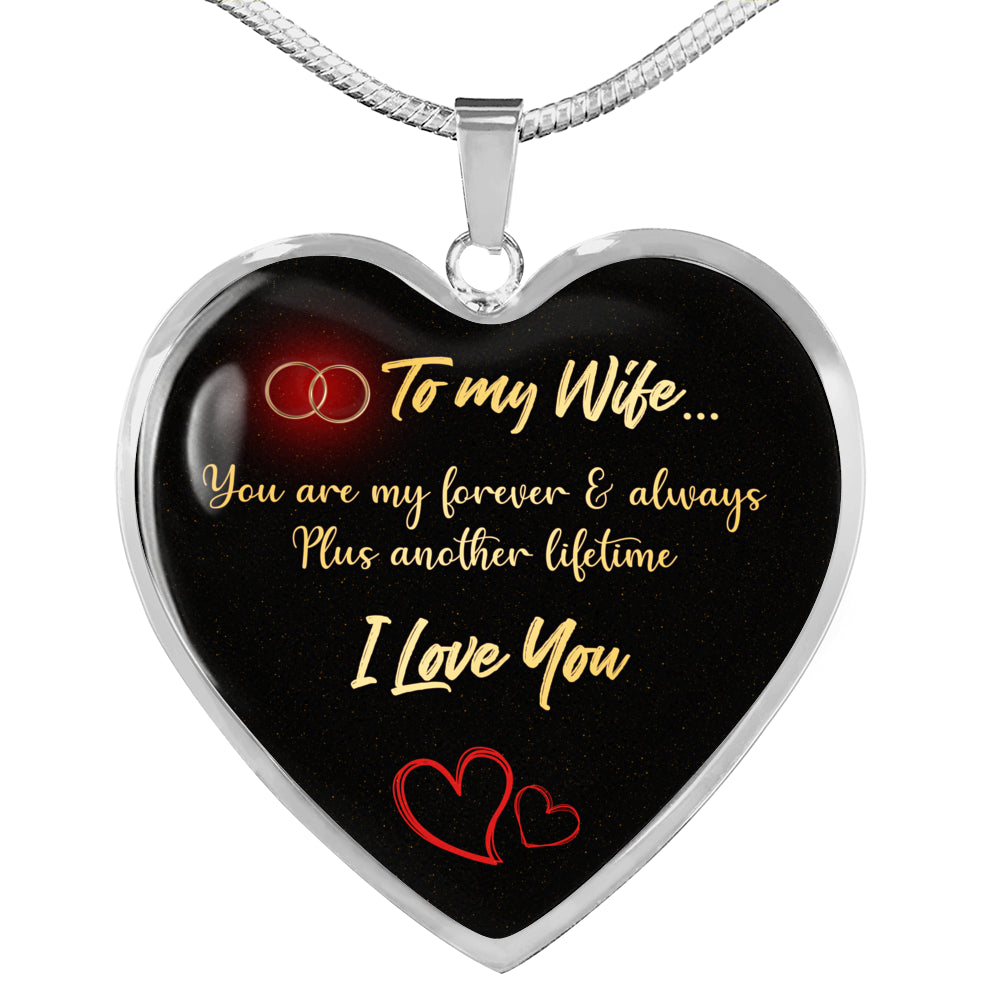 To My Wife Heart Pendant Necklace [T002]