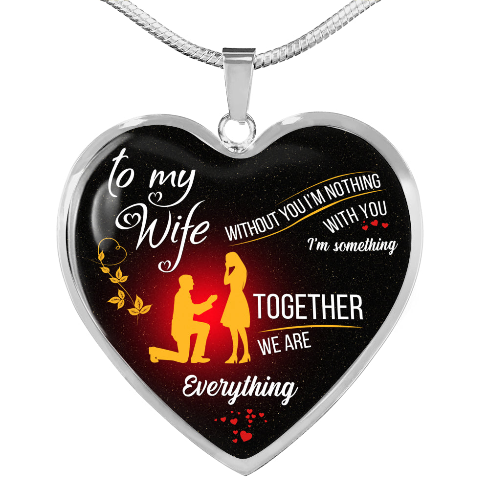 To My Wife Heart Pendant Necklace [T001]