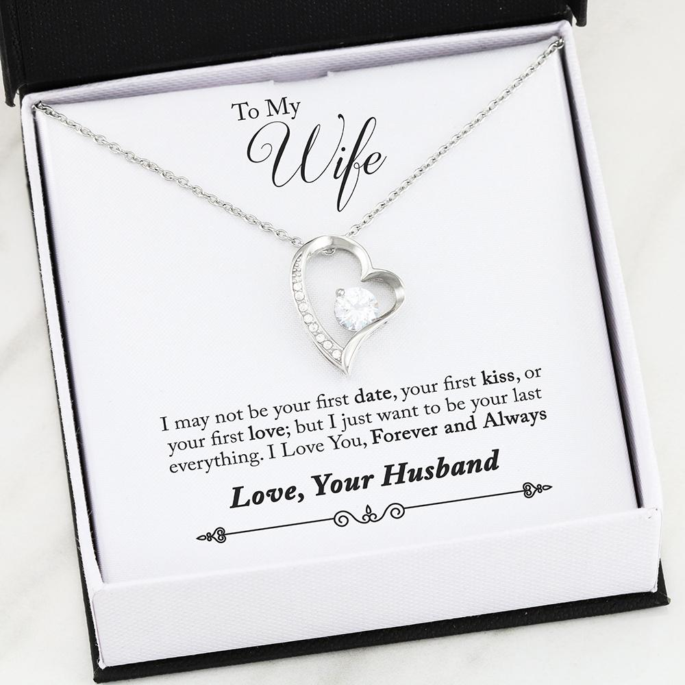 """To My Wife, Forever And Always... Love, Your Husband"" Heart Necklace"