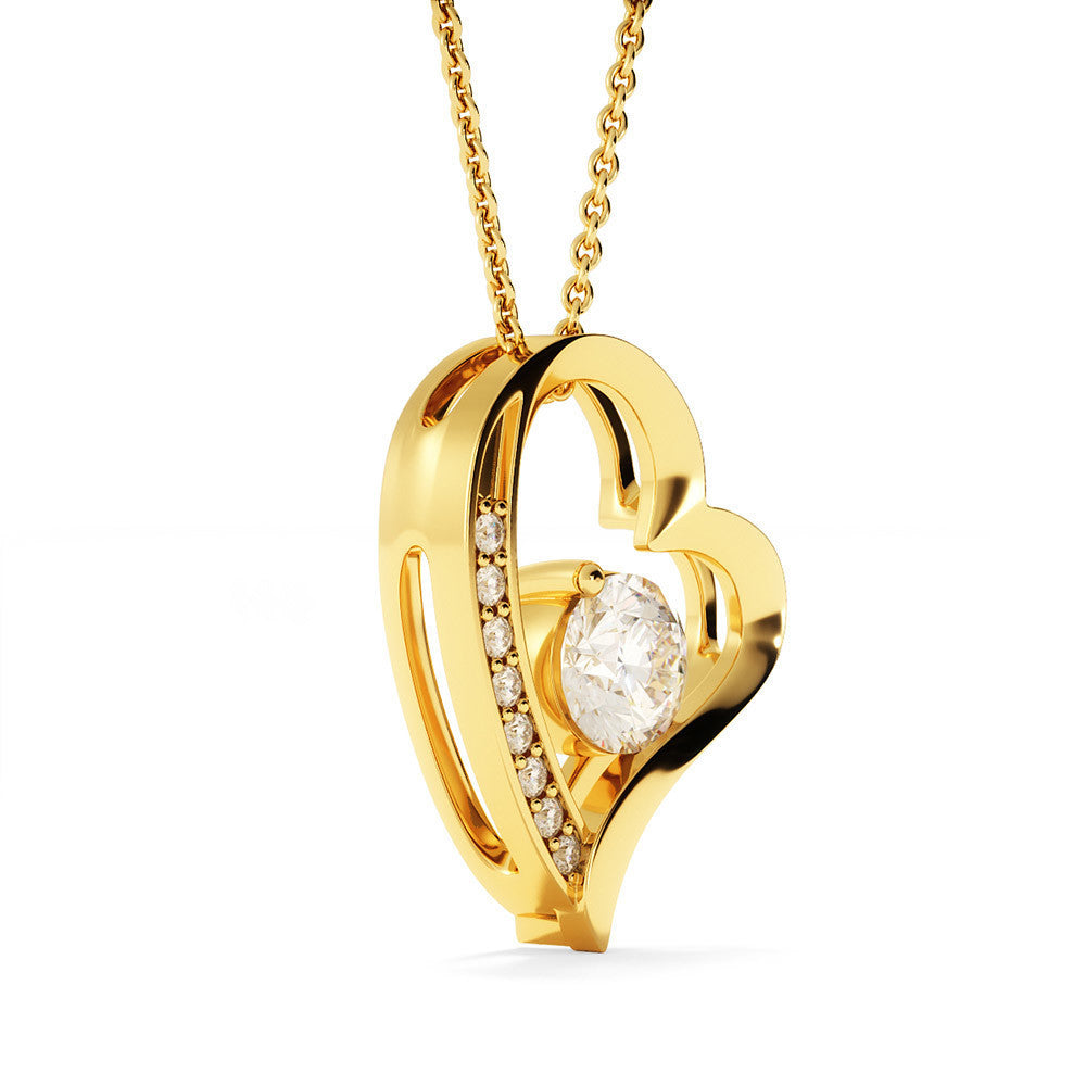"""To My Wife,  Always Heart To Heart... Love, Your Husband"" Heart Necklace"