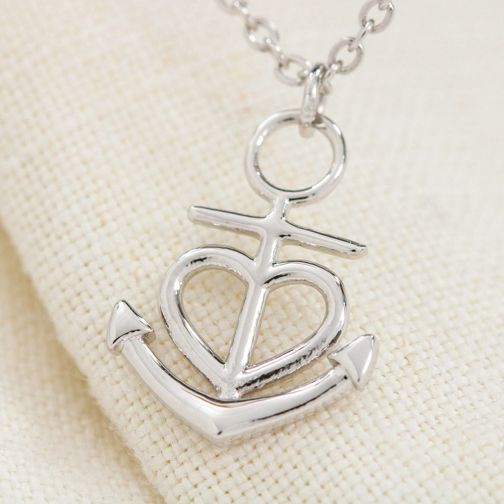 """To My Wife, Forever and Always... Love, Your Husband"" Anchor Necklace"