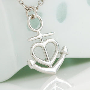 """To My Wife, You Complete Me... Love, Your Husband"" Anchor Necklace"