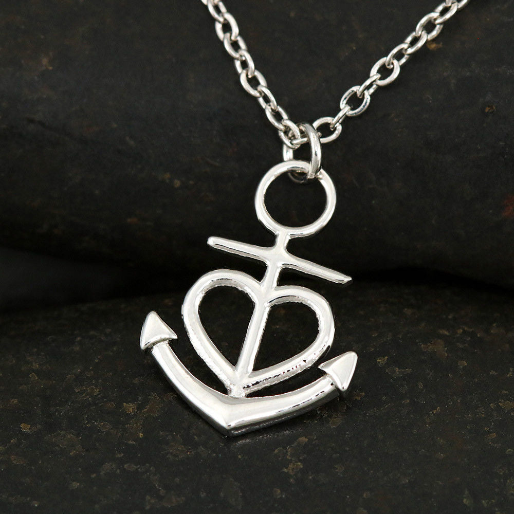 """To My Gorgeous Wife, If I Had To Choose.. Love, Your Husband"" Anchor Necklace"