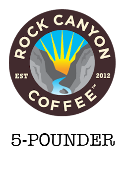 5 pound rock canyon coffee bag label