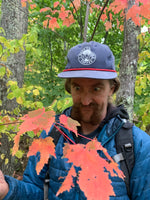 looking at fall foliage in blue rock canyon hat in new hampshire