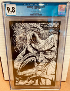 Batman Three Jokers #1 2nd Print 1:25 Black & White 2020 DC Comics CGC 9.8