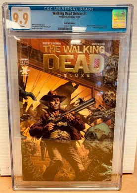 The Walking Dead Deluxe #1 Gold Foil Variant CGC 9.9 MINT Image Comics 2020