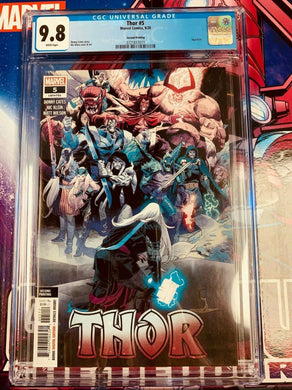 Thor #5 2nd Print 2020 Marvel Comics Donny Cates 1st Black Winter CGC 9.8
