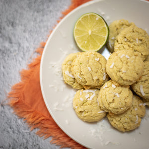Coconut Lime Sugar Energy Cookies
