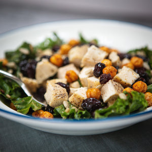 Coach Chris' Power Bowl: Kale Salad with Roasted Chicken