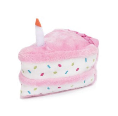 Pink Birthday Cake Slice