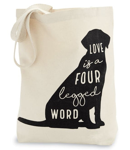 Love is a 4 Legged Word Tote Bag