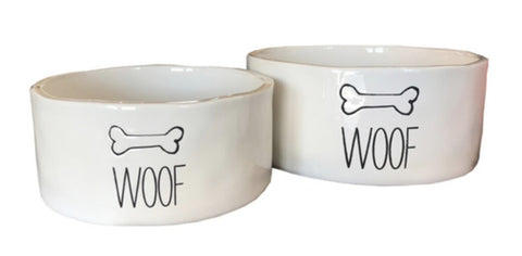 Small Woof Dog Bowl