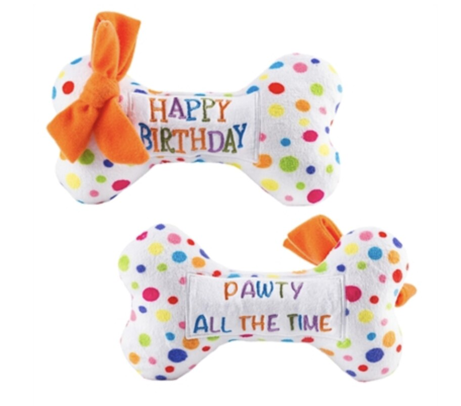 Plush Birthday Bone