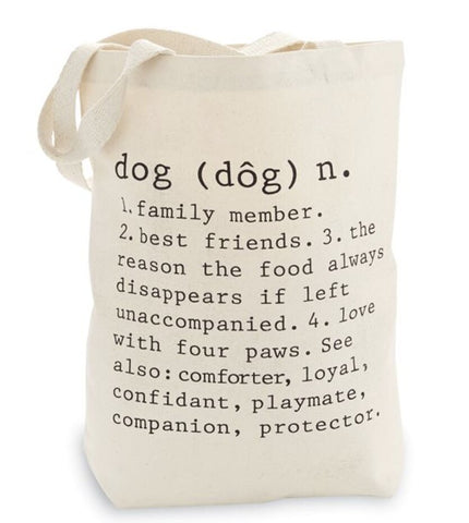 Definition Dog Tote Bag