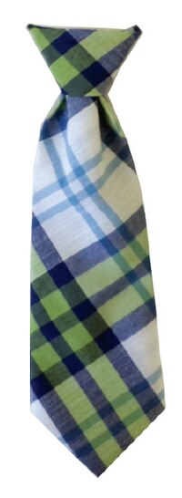 Lime Madras Neck Tie