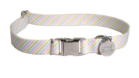 Southern Dawg Pastel Stripe Collar