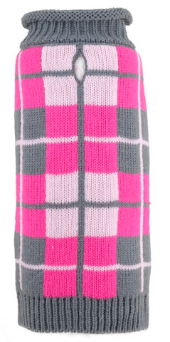 Pink Oxford Plaid Sweater