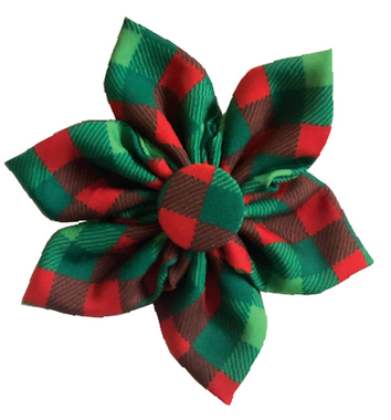 Scottish Check Pinwheel Flower