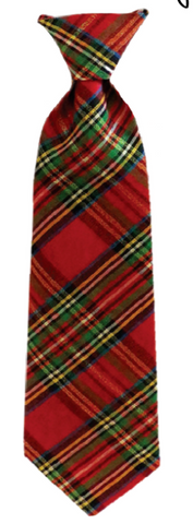 Red Plaid Lurex Necktie