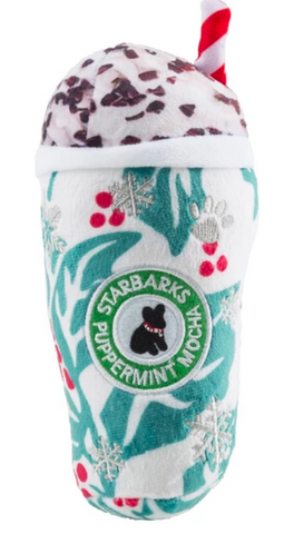 Starbarks Holly Print Cup Puppermint Mocha