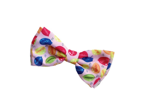 Pink Party Time Bow Tie