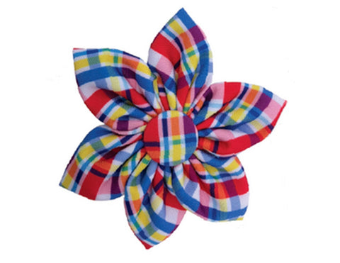 Preppy Plaid Pinwheel Flower