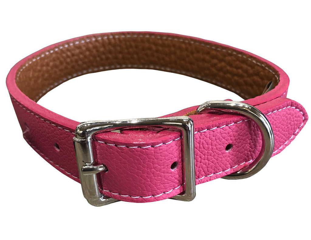 Pink Tuscany Leather Collar