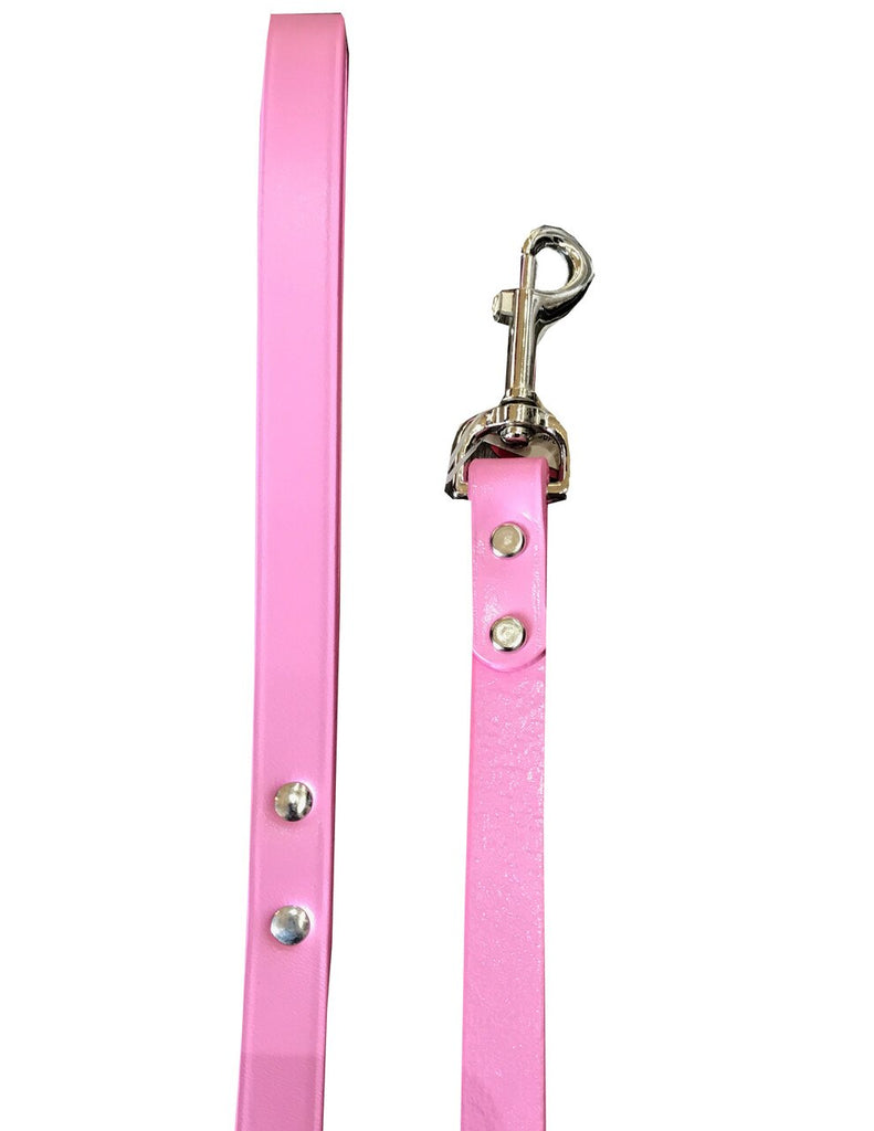 Pink Town Leather Leash