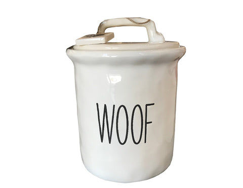 Woof Dog Treat Canister