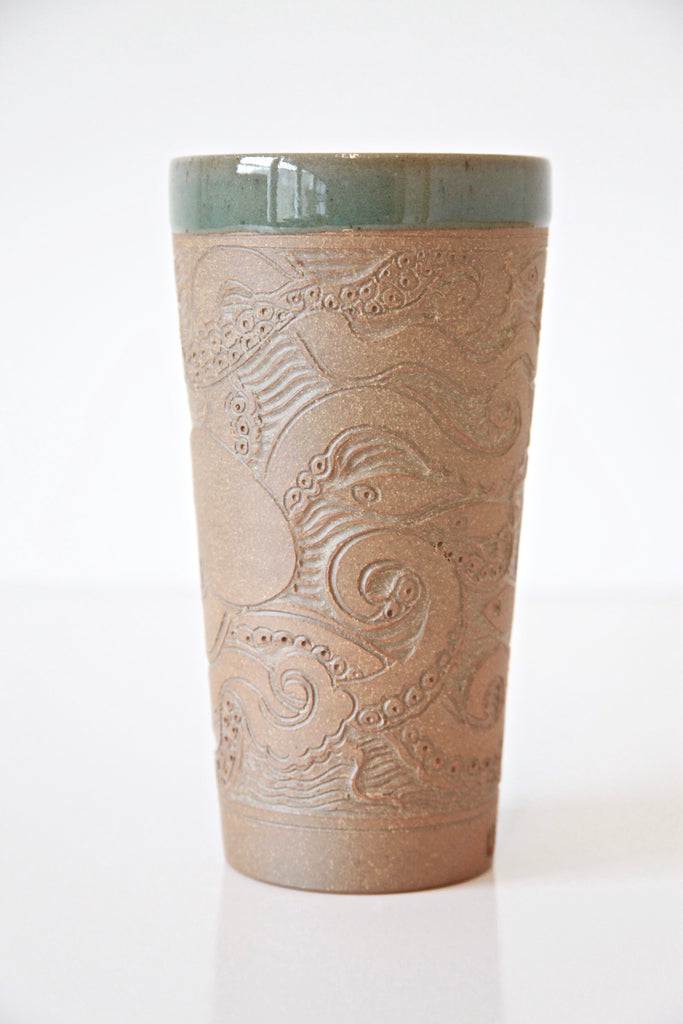 Raw Carved Octopus Beaker