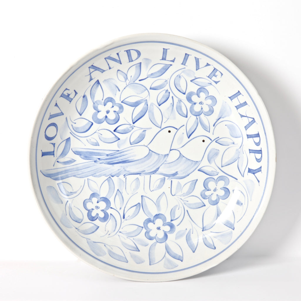 "13"" Commemorative ""Love and Live Happy"" Coupe Platter"