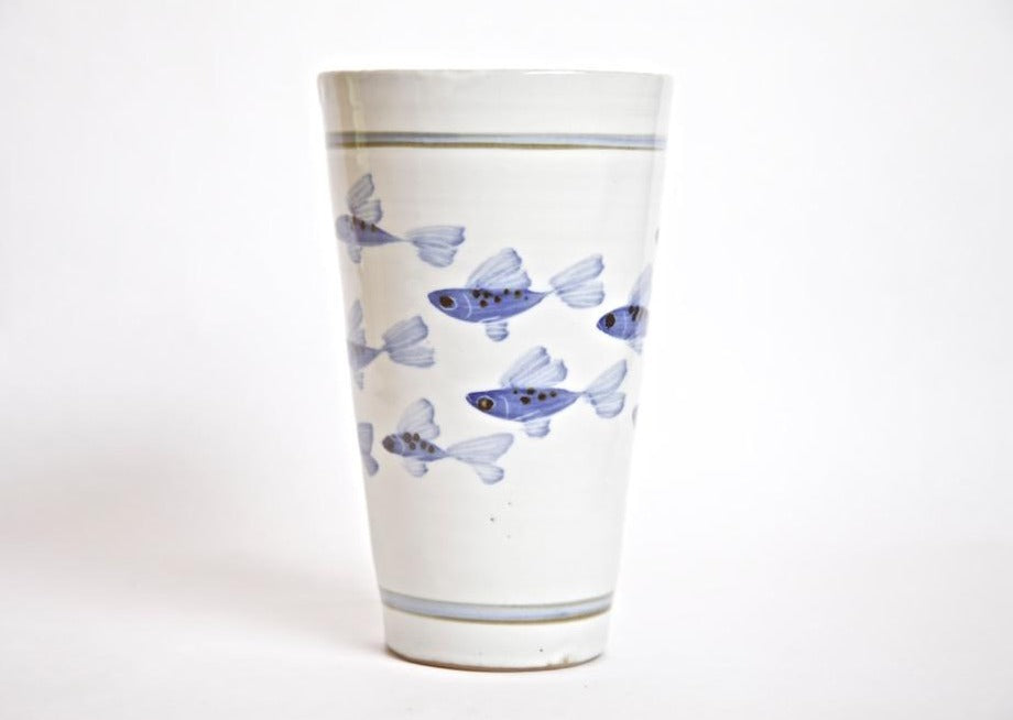 Painted Fish Beaker Vase