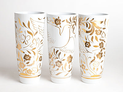 Limited Series Golden Dove Vase