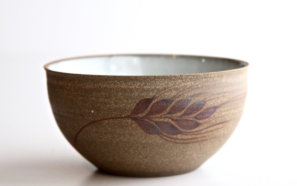 "6"" Pho Bowl with Painted Wheat"