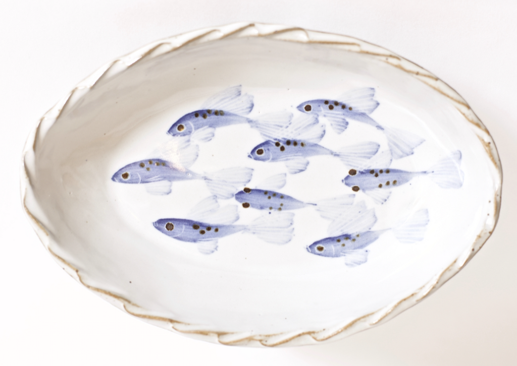 Painted Fish Oval Platter