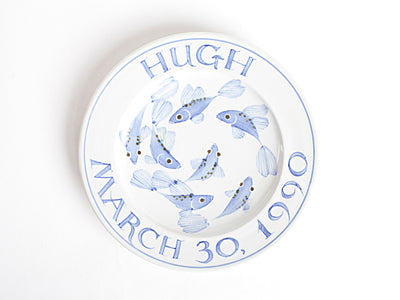 "Inscribed 8"" Commemorative Plate for Baby (email or call to custom order)"