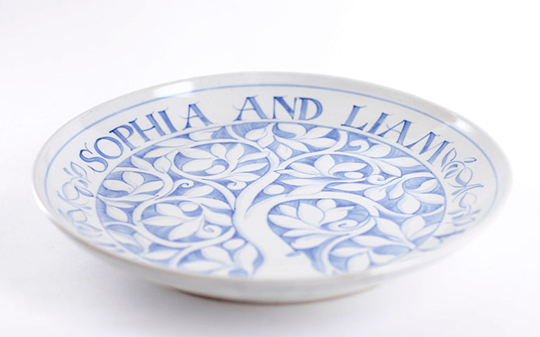 "Inscribed 13"" Commemorative Coupe Plate (email or call to order)"