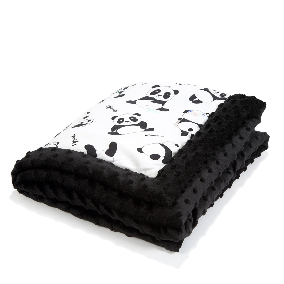 NEWBORN BLANKET peitto - #ilovepanda | Black