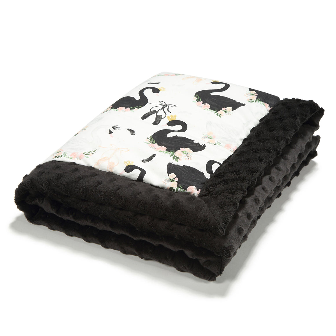 NEWBORN BLANKET peitto - Moonlight Swan | Black