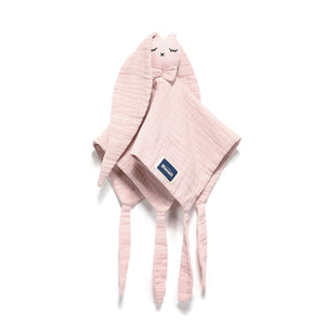 DOUDOU RABBIT 100 % COTTON MUSLIN - POWDER PINK