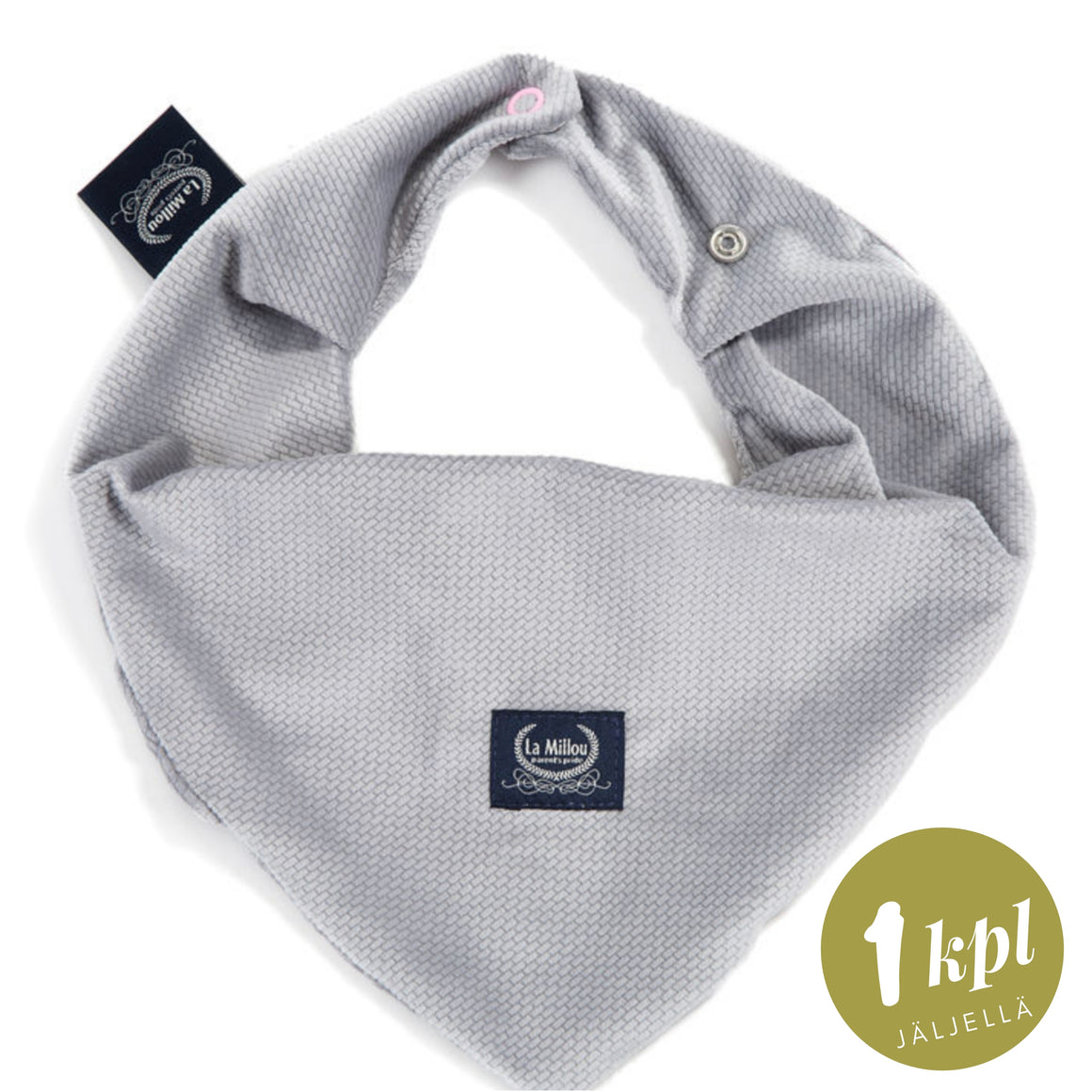 NECKERCHIEF kaulahuivi - Velvet Dark Grey