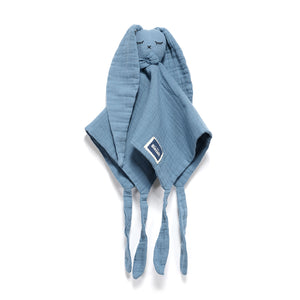 DOUDOU RABBIT 100 % COTTON MUSLIN uniriepu - Navy