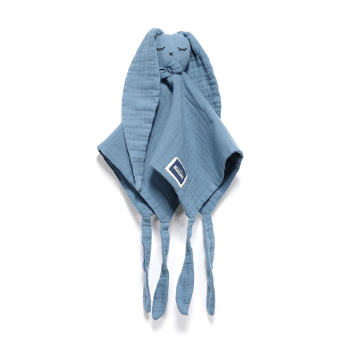 DOUDOU RABBIT 100 % COTTON MUSLIN - NAVY