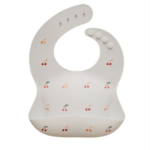 MUSHIE SILICONE BABY BIB - Cherries
