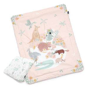 BEDDING WITH FILLING 2in1 vuodevaatesetti (koko M) - Dundee & Friends One Pink