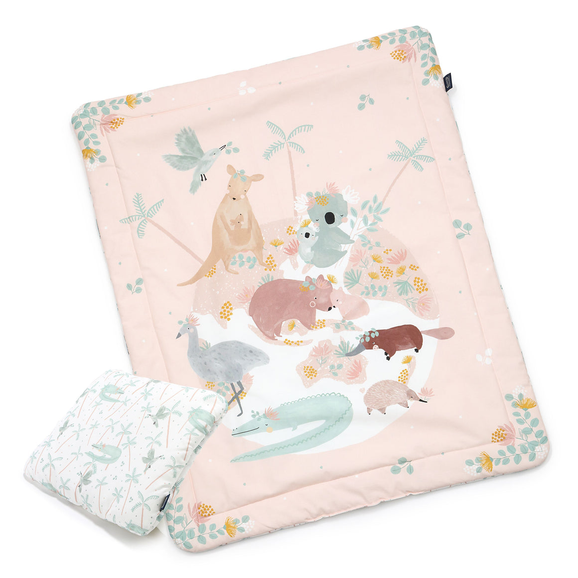 "BEDDING WITH FILLING 2in1 (baby ""M"" size) - Dundee & Friends One Pink"