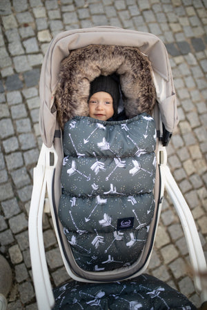 ASPEN WINTERPROOF STROLLER BAG modulaarinen lämpöpussi - It's Magic | Velvet Smoke Mint